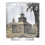 New York: Jamaica Church Shower Curtain