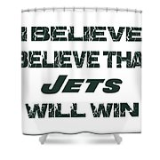 New York Jets I Believe Shower Curtain