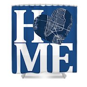 New York Map Home Heart - New York City New Yorkroad Map In A He Shower Curtain