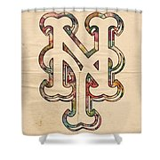 New York Mets Poster Art Shower Curtain