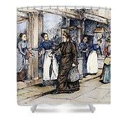 New York Milliner, 1889 Shower Curtain