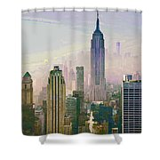 New York Misty Morning Shower Curtain