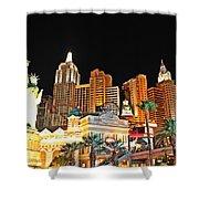 New York New York Hotel And Casino Shower Curtain