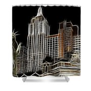 New York New York In Las Vegas Shower Curtain