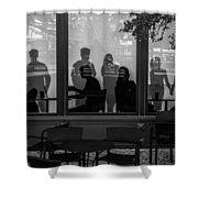 New York New York Shoppers Shower Curtain