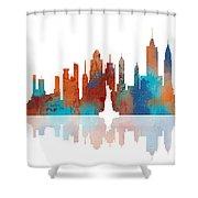 New York New York Skyline  Shower Curtain