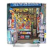 New York Newsstand Shower Curtain