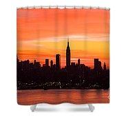 New York November Dawn Shower Curtain