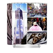 New York Nyc Collage Shower Curtain