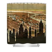 New York Old And New Shower Curtain