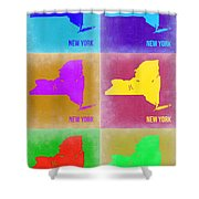 New York Pop Art  Map 3 Shower Curtain