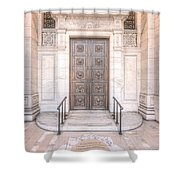 New York Public Library Entrance I Shower Curtain