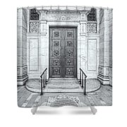 New York Public Library Entrance II Shower Curtain