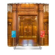 New York Public Library Main Reading Room Entrance I Shower Curtain