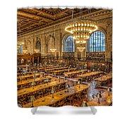 New York Public Library Main Reading Room Ix Shower Curtain