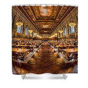 New York Public Library Main Reading Room Vii Shower Curtain