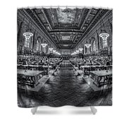 New York Public Library Main Reading Room Viii Shower Curtain