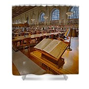 New York Public Library Rose Main Reading Room  Shower Curtain