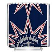 New York Rangers Shower Curtain