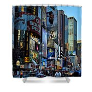New York Rush Hour Shower Curtain