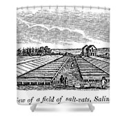 New York Salina, 1841 Shower Curtain