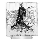 New York: Sanitation, 1885 Shower Curtain