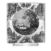 New York Saratoga, 1874 Shower Curtain