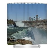 New York Side Of Niagara Falls Shower Curtain