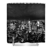 New York Skyline 3bw Shower Curtain