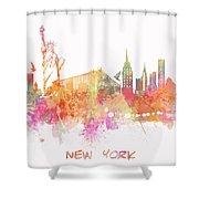 New York Skyline City Shower Curtain