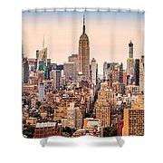 New York Skyline Panorama Shower Curtain