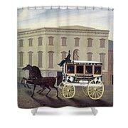 New York Stagecoach Shower Curtain