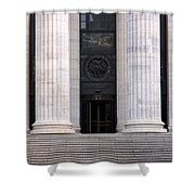 New York State Education Building Entrance Shower Curtain