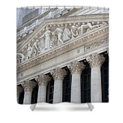 New York Stock Exchange I Shower Curtain by Clarence Holmes