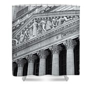 New York Stock Exchange II Shower Curtain by Clarence Holmes