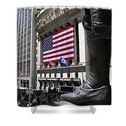New York Stock Exchange Shower Curtain