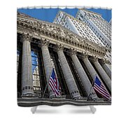 New York Stock Exchange Wall Street Nyse  Shower Curtain