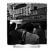 New York Street Fair - Black And White Shower Curtain