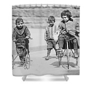 New York Street Kids - 1909 Shower Curtain