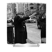 New York Street Photography 27 Shower Curtain by Frank Romeo