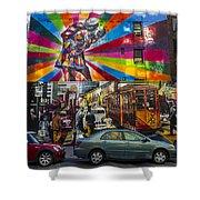 New York Street Scene Shower Curtain