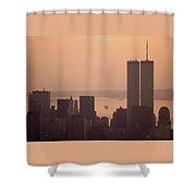New York Sunset Shower Curtain