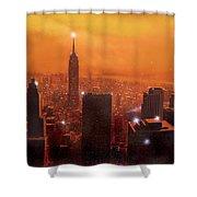 New York Sunset Shower Curtain by Steve Crisp