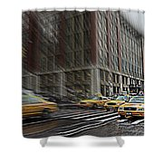 New York Taxi Abstract Shower Curtain