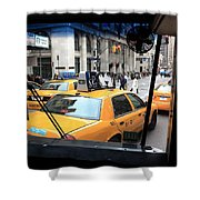 New York Taxi Cabs Shower Curtain