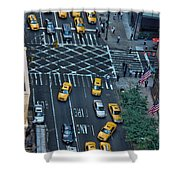 New York Taxi Rush Hour Shower Curtain