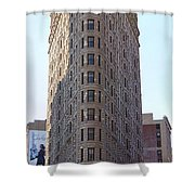 New York - The Flat Iron Building Shower Curtain