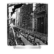 New York Ticker Tape Parade Shower Curtain