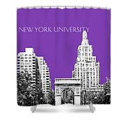 New York University - Washington Square Park - Purple Shower Curtain