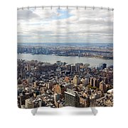New York View Towards Jersey Shower Curtain